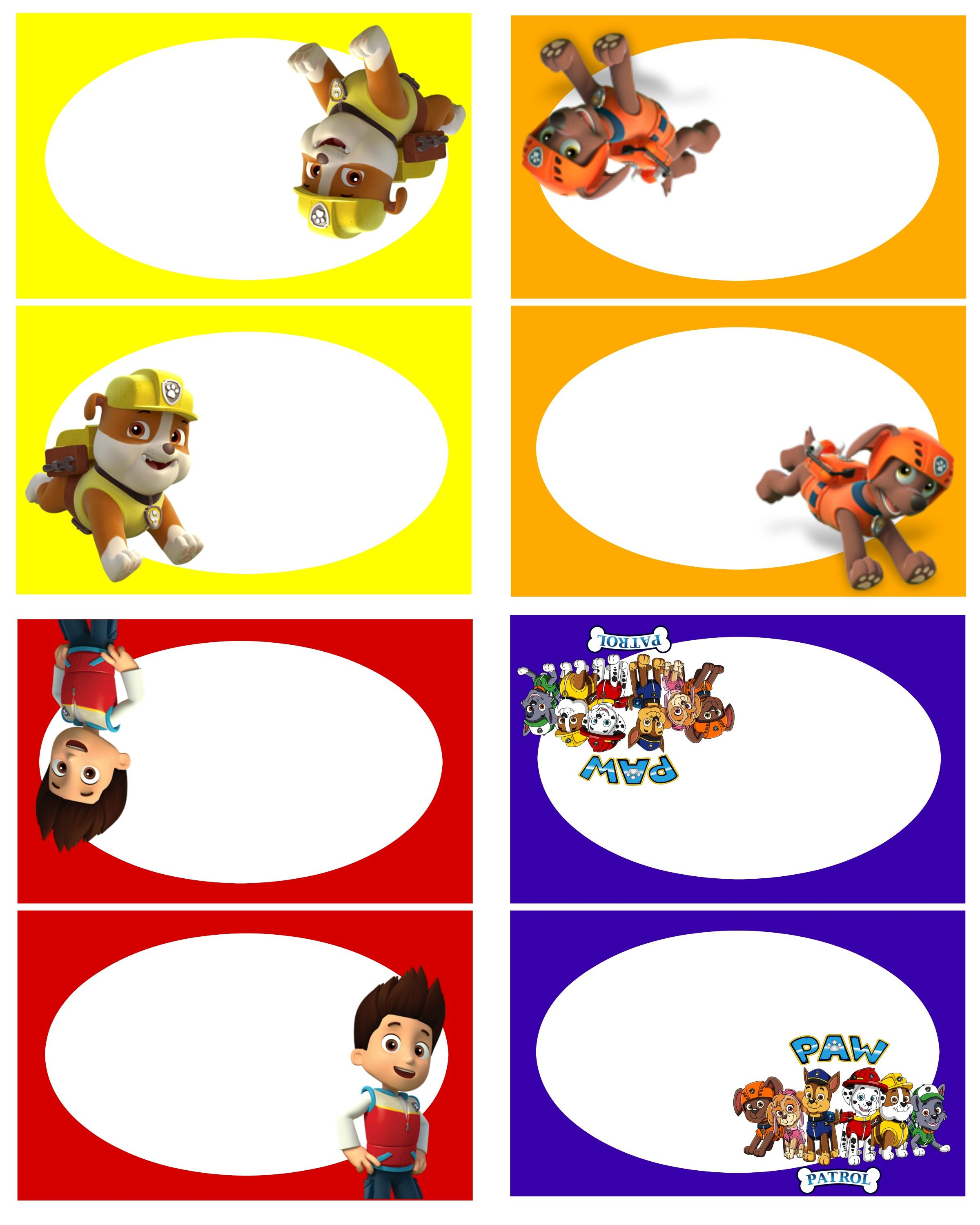 Paw Patrol Free Birthday Party Printables! - Delicate Construction ...
