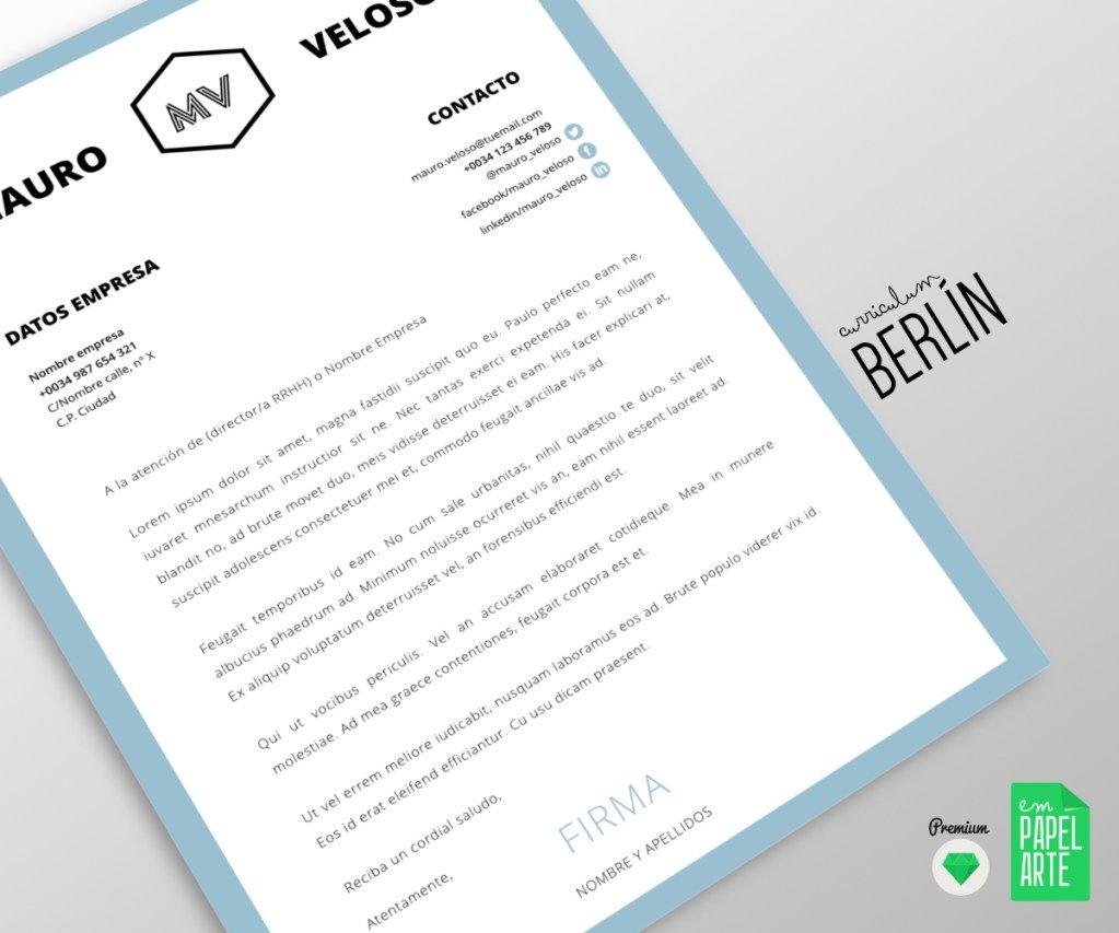 CV BERLÍN CARTA PRESENTACIÓN | Hojas de Vida | Pinterest | Carta de ...