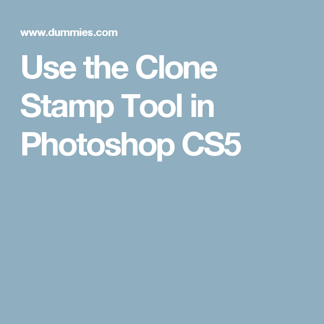 Use The Clone Stamp Tool In Photoshop Cs5 Photoshop Cs5 Photoshop Stamp