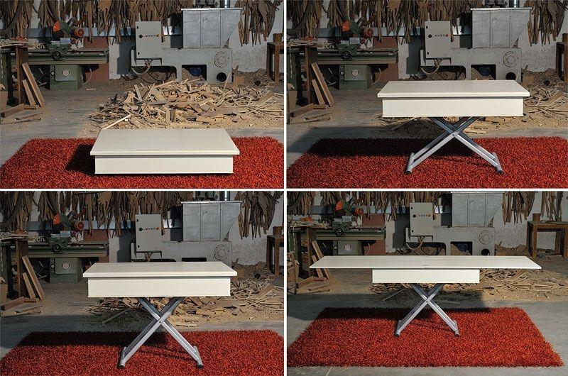 Tavolo Alzabile ~ Tavolino trasformabile e allungabile in tavolo da pranzo in