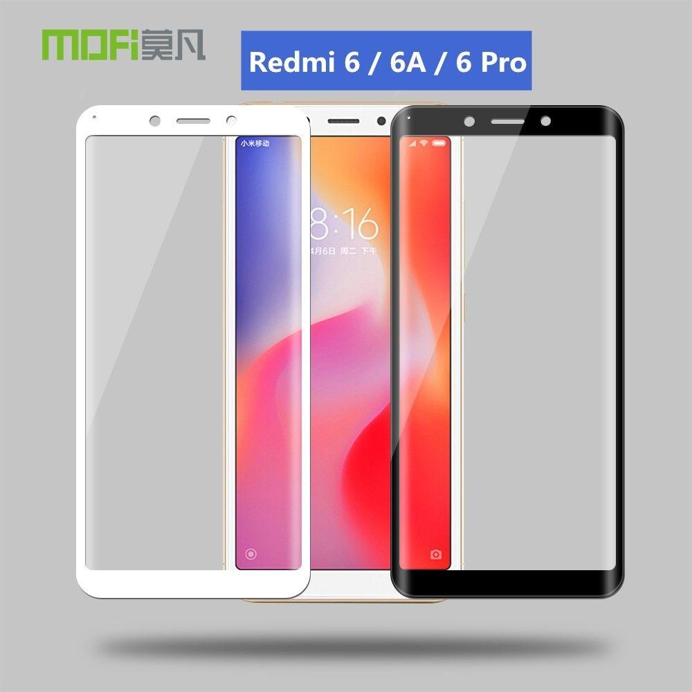 Xiaomi Redmi 6 Glass For Redmi 6a Tempered Glass 3d Curved Glass Original Mofi 3d Glass Full Cover Redmi 6 P Curved Glass Phone Screen Protector Tempered Glass