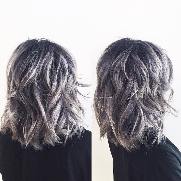 Image Result For Transition To Grey Hair With Highlights Love That