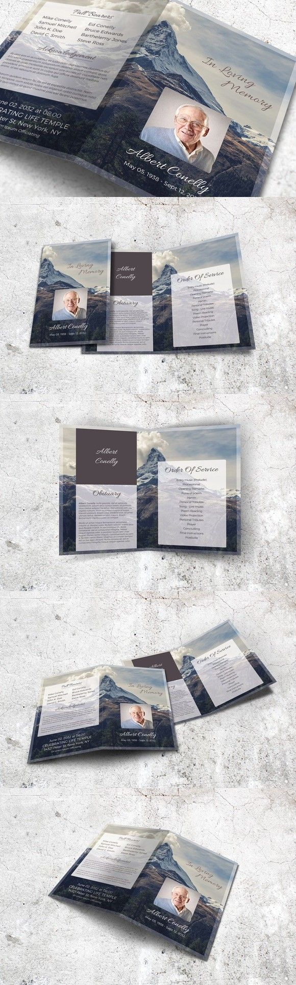 Mountain Peak Funeral Program   Pinterest