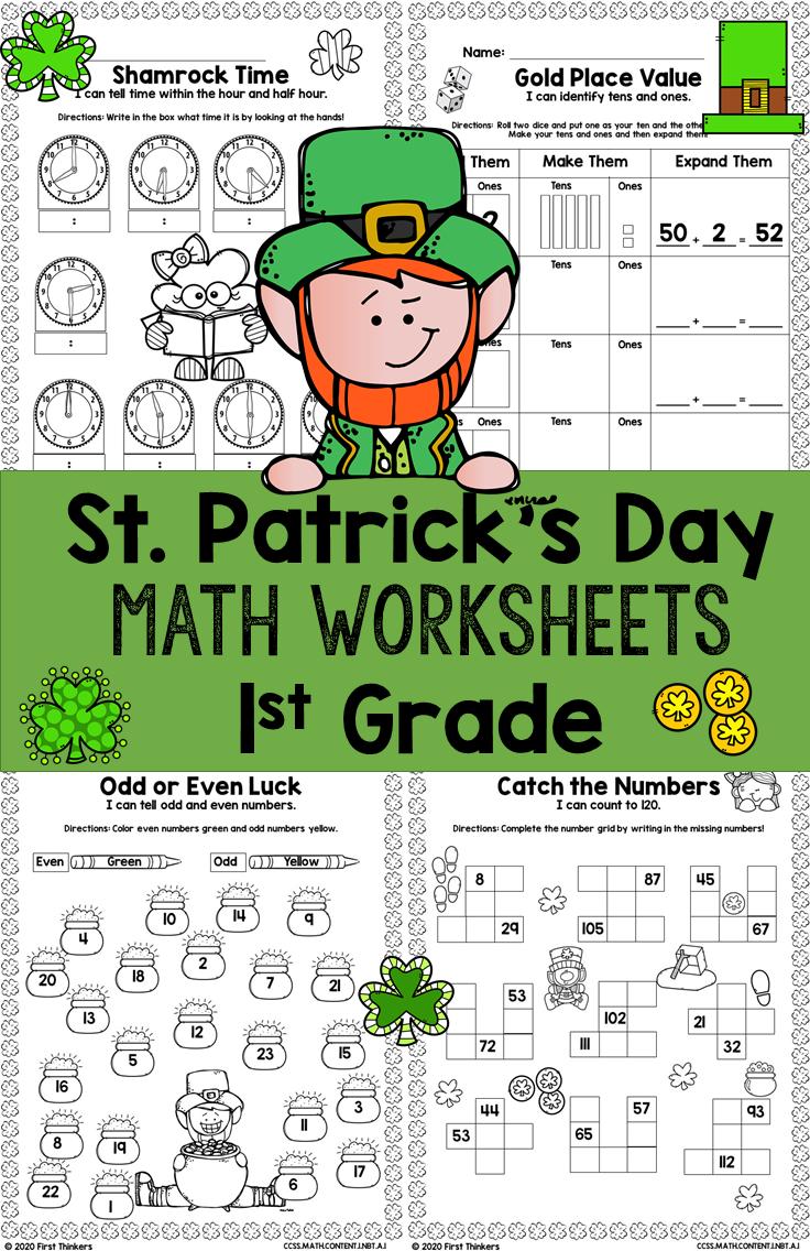 St Patrick S Day Math Worksheets Math Worksheets 1st Grade Math Math [ 1136 x 736 Pixel ]