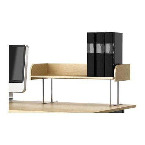 Own it love it galant desk top shelf birch veneer for Desk hutch organizer ikea