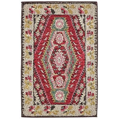 World Menagerie Broadway Red/Brown Area Rug Rug Size: 2' x 3'