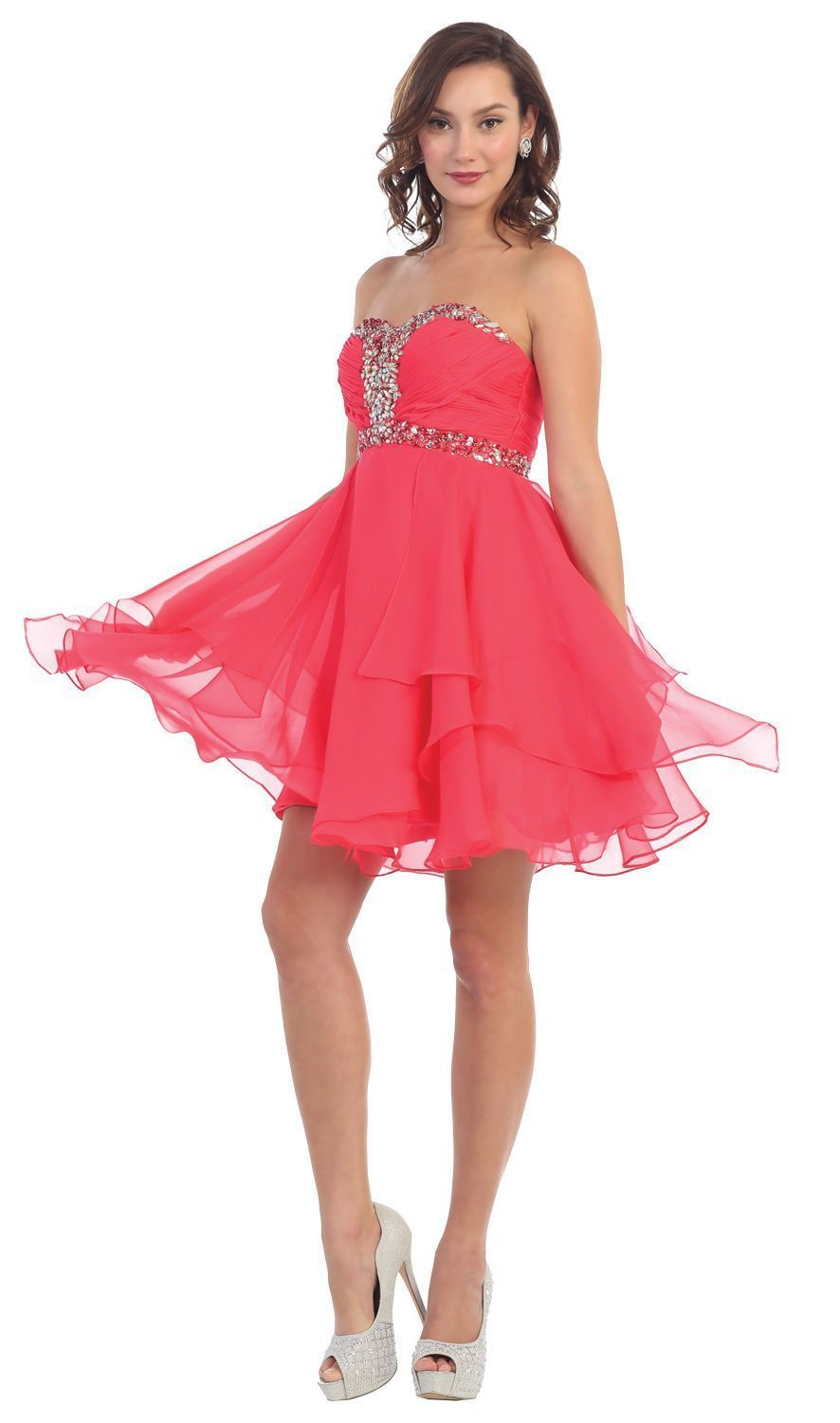 Short prom homecoming formal cocktail dress plus size strapless