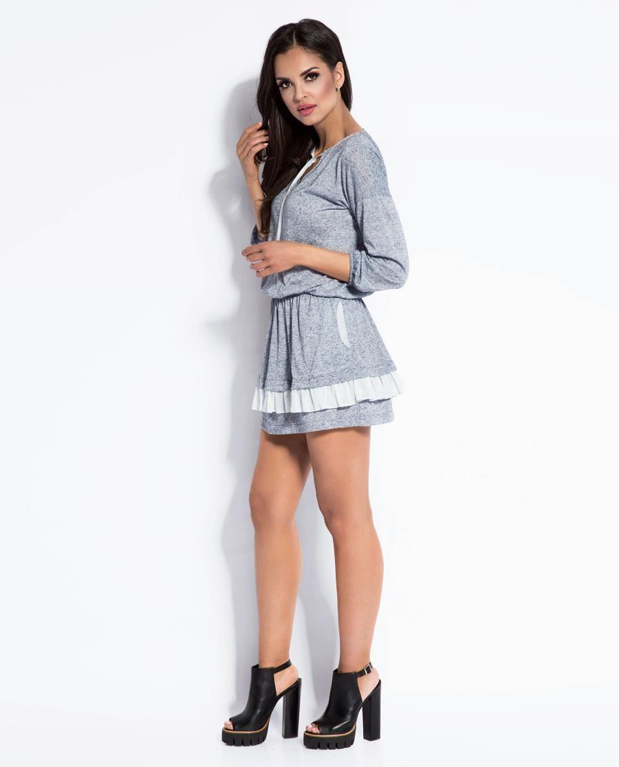 36a0c4673b Lekka i Zwiewna Mini Sukienka Vibi Niebieska http   besima.pl Moda Uliczna