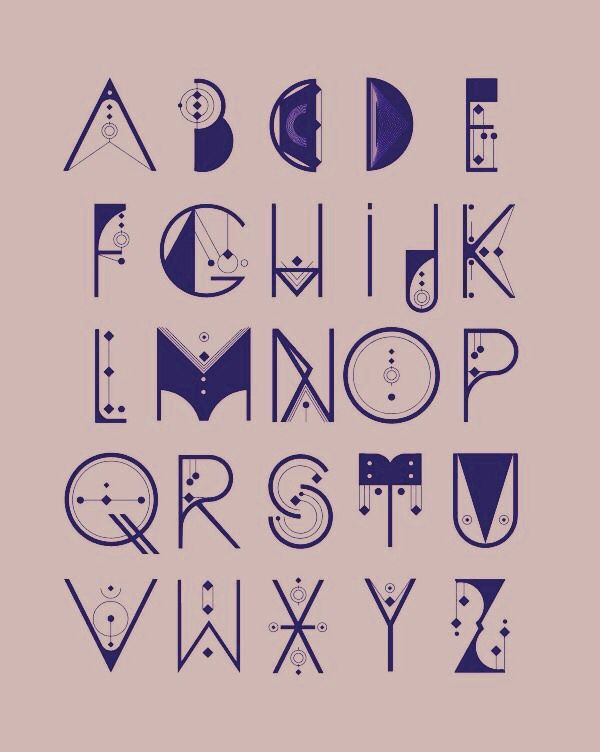 very cool alphabet various graphics pinterest typography