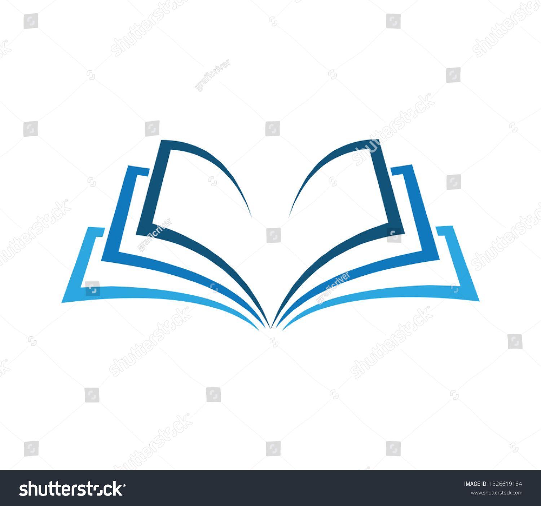 Open Book Education Logo Vector Image Symbol Illustration Design