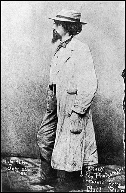 Mathew Brady (1822 - 1896) is the father of photojournalism. With his team of photographers Civil War is the most well documented war in it's time.