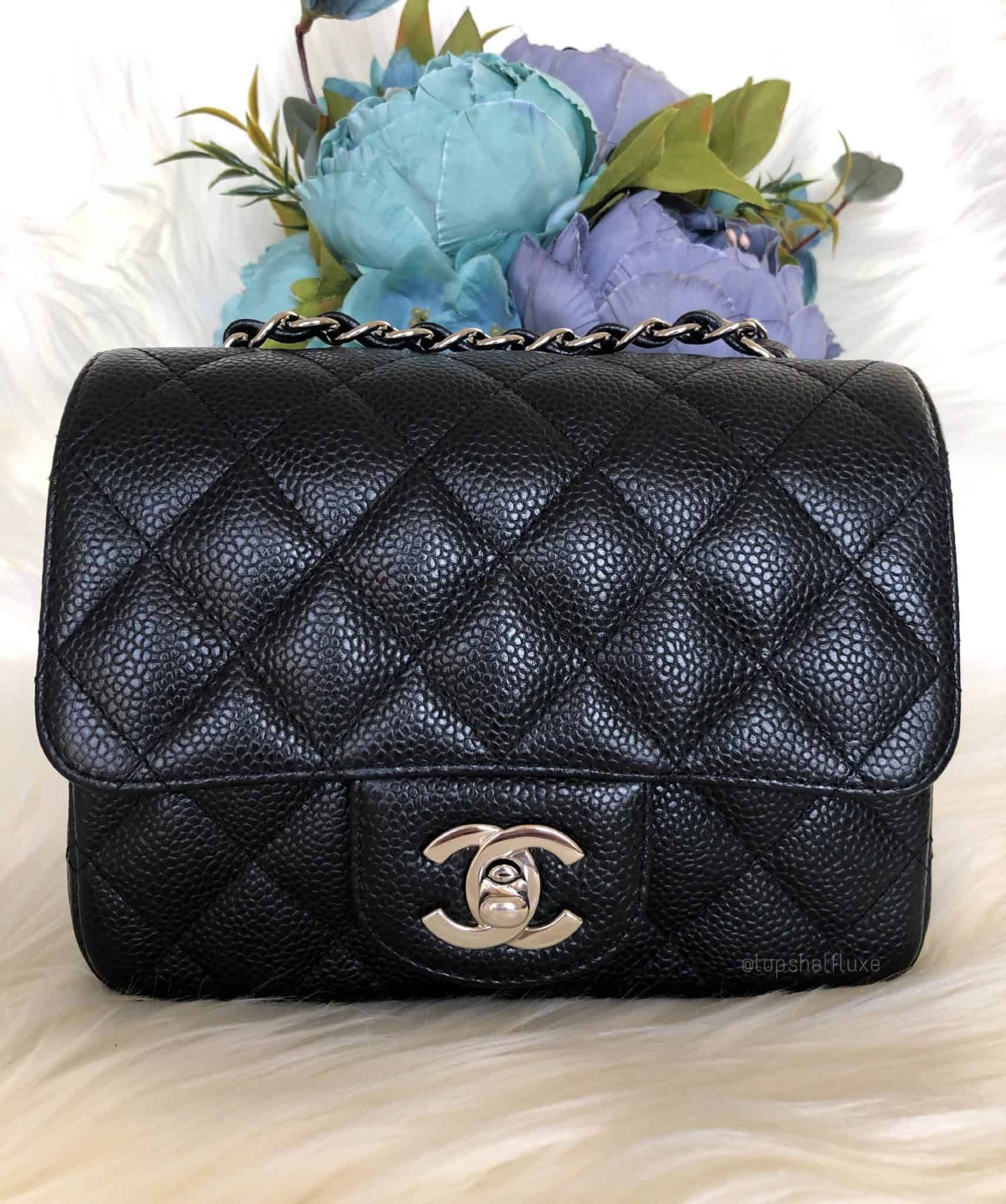 11f34353bcba Square Mini Flap Black with edge stitching SHW | Chanel Addiction ...