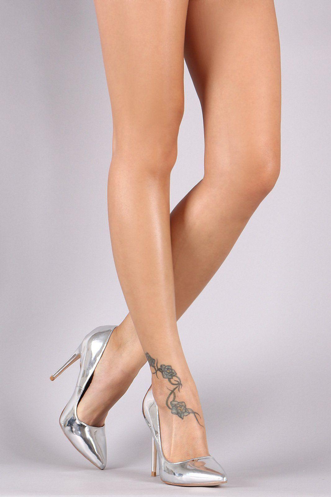Pointy And Posh Top 65 Amazing Stiletto Nails: Anne Michelle Patent Pointy Toe Stiletto Pump