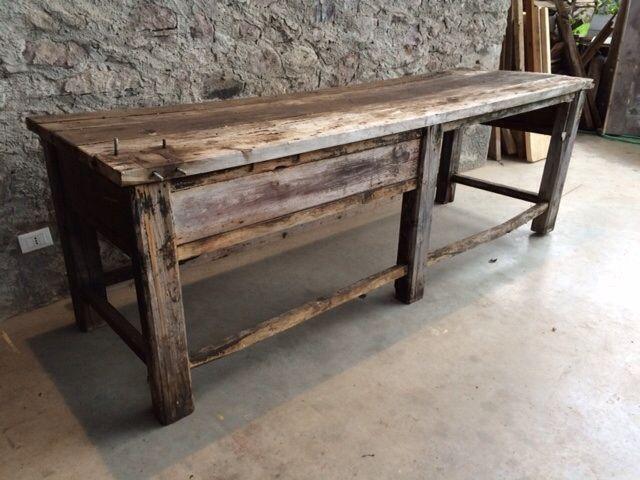 Tavoli Da Lavoro Vecchi : Vecchio bancone da lavoro articoli scontati progetti da provare