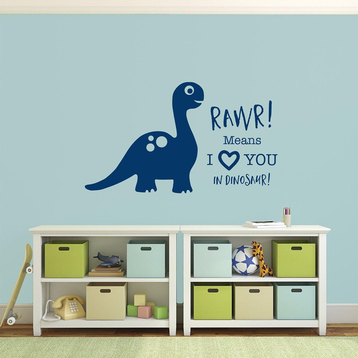 Dinosaur Rawr Means I Love You In Dinosaur Wall Sticker