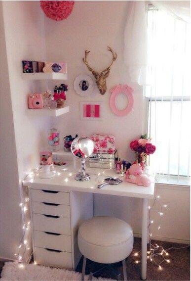 Pin By Hailea 🌸🎀🌸 On Vanity Storage Bedroom Decor
