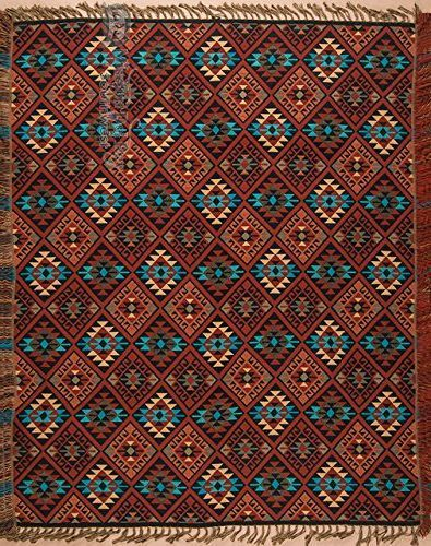 11 Southwestern Blankets That Will Bring Santa Fe Into Your Home Southwest Jacquard Throw Blanket