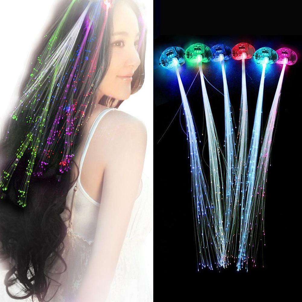 Pcs Creative LED Fiber Optic Light Pumpkin Fake Hair Braid