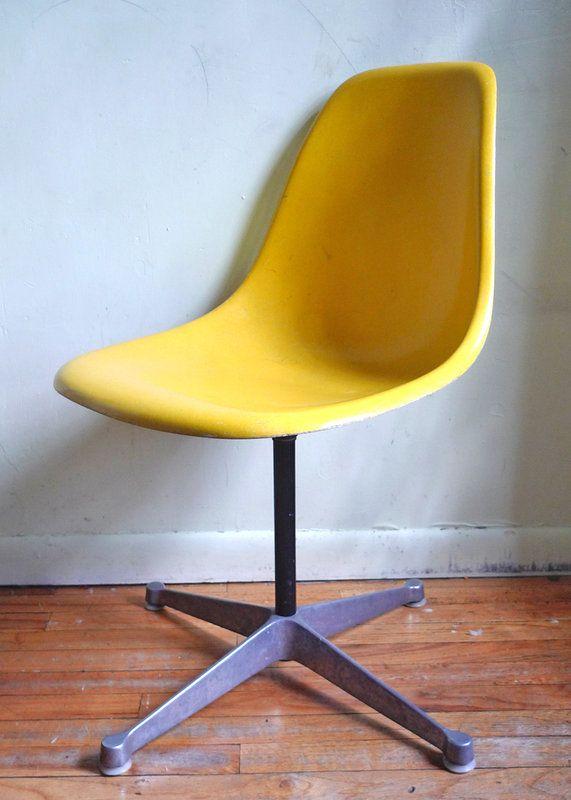 Vintage Herman Miller Shell Chair W/ Swivel Base U2014 Best Offer $250