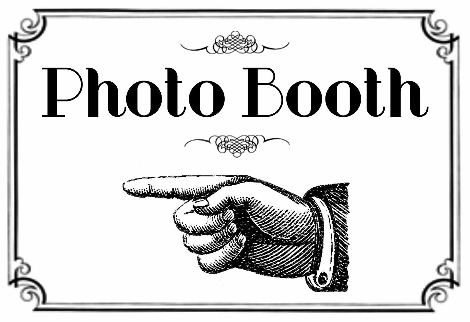 image relating to Free Printable Photo Booth Sign identify No cost Printable Picture Booth Signal In this article is the printable for