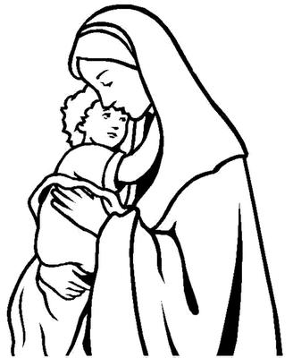 Silueta De La Virgencita Dibujos De Jesus Virgen Maria Dibujo Paginas Para Colorear