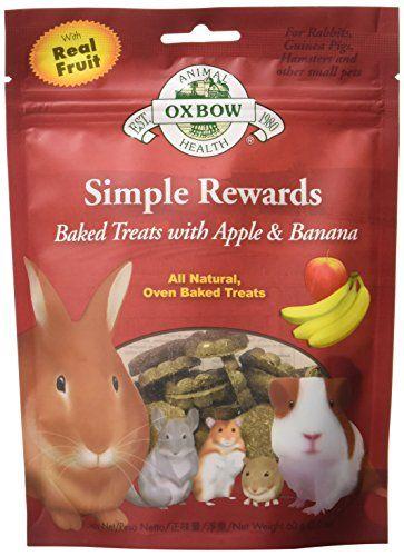Oxbow Simple Rewards Baked Treats Apple And Banana No