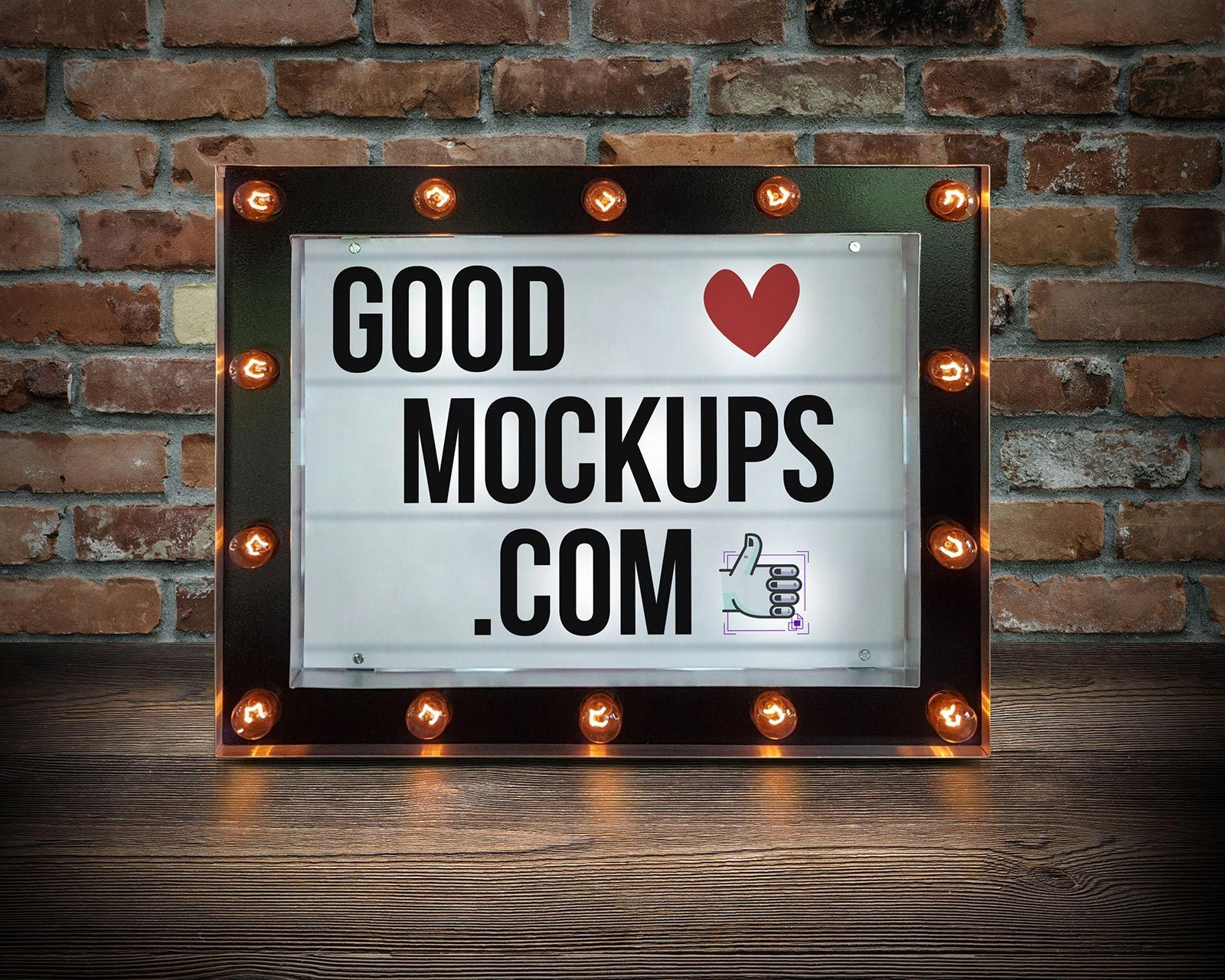 Download Free Marquee Cinema Light Box Typography Poster Mockup Psd Poster Mockup Psd Poster Mockup Light Box