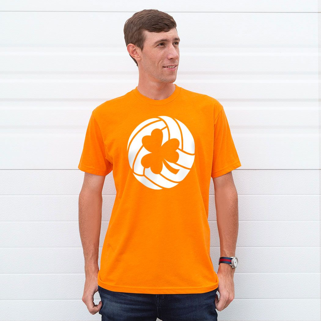 Volleyball Short Sleeve T Shirt Shamrock Volleyball Orange Unisex M Volleyball St Patrick S App Volleyball Shirts Volleyball Shorts Volleyball Tshirts