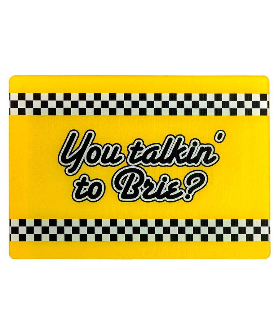 'You talkin' to Brie' cheese board by Mustard on secretsales.com. '