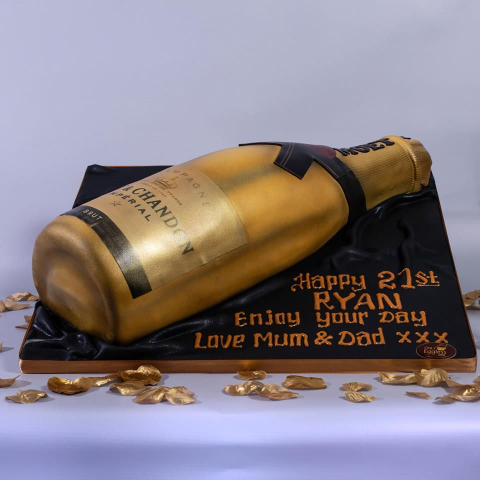 Here's A Moët & Chandon Brut Champagne Themed Cake Made