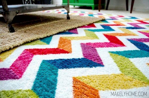 Bright Colorful Area Rugs Ideas