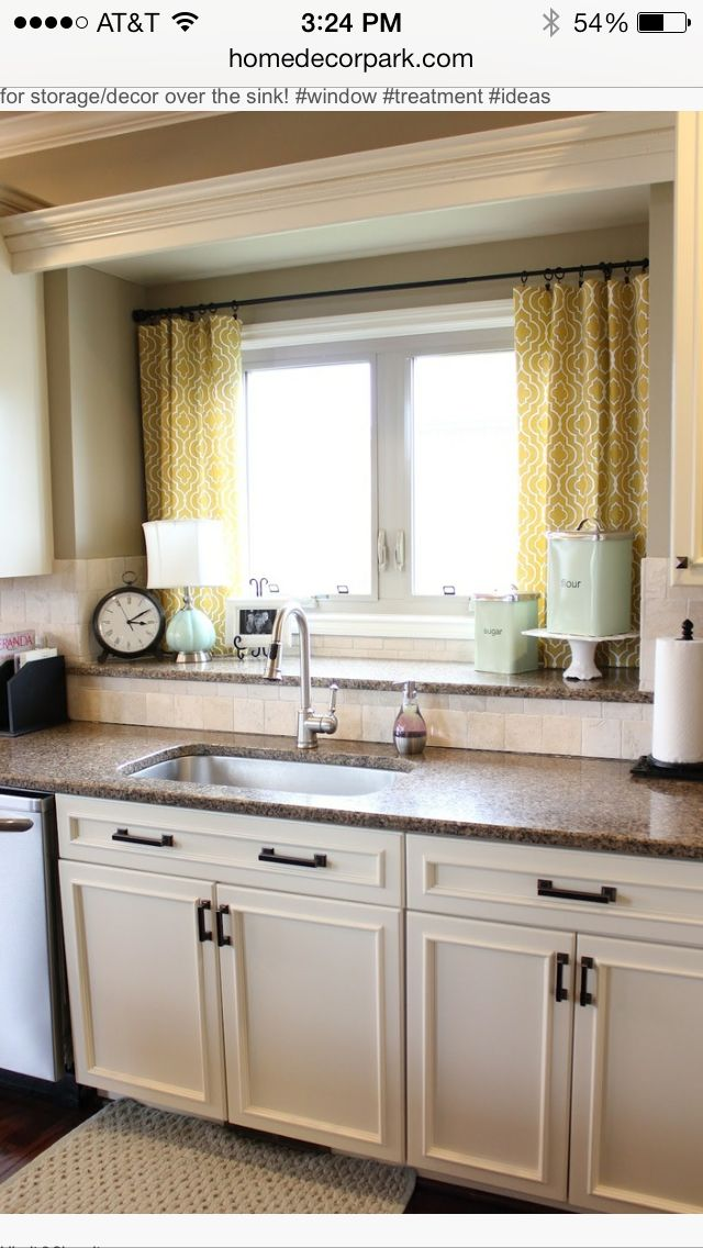curtains for double window over the sink humble abode kitchen rh pinterest com
