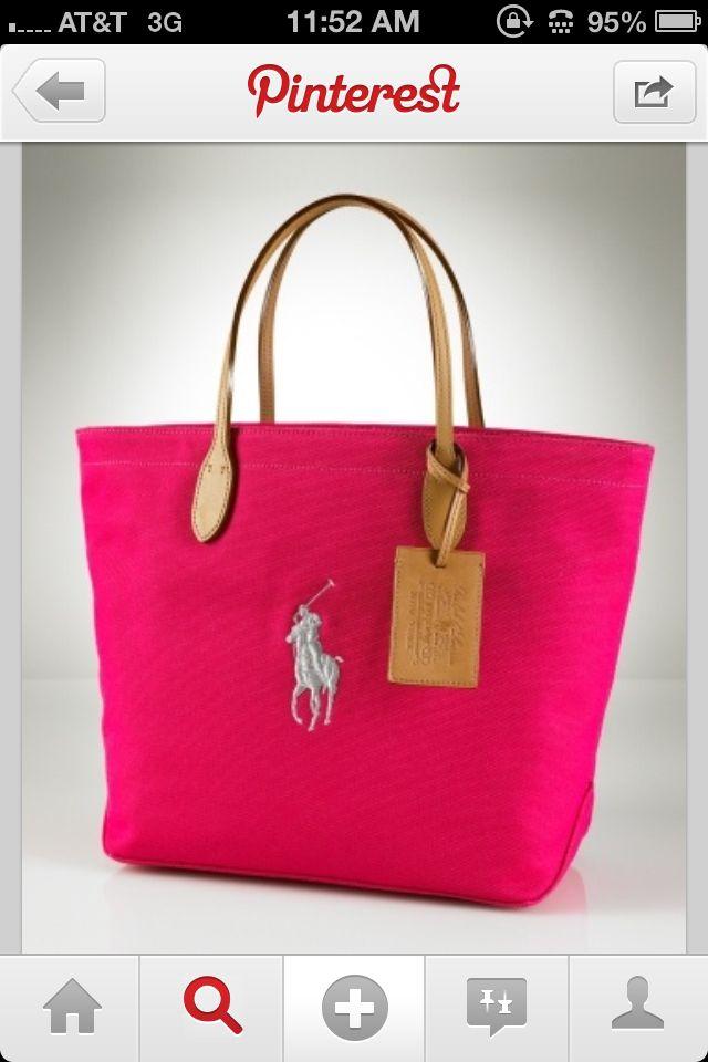 f3d50dea24 Pink Ralph Lauren Polo bag