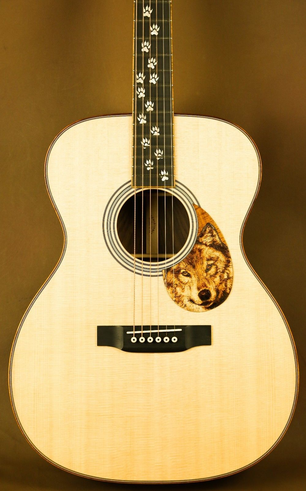 Martin Om 28 Wolf Custom Acoustic Guitar In Musical Instruments