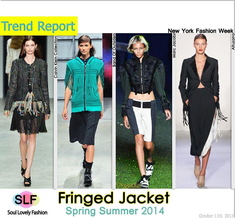 Fringed #Jacket FashionTrend for Spring Summer 2014 #spring2014  #fashion #ss2013 #trends #fringe