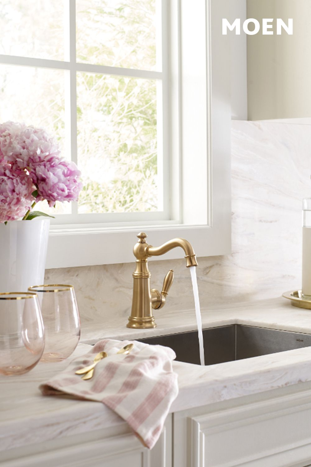 8 Best Weymouth Brushed Gold Kitchen Ideas Gold Kitchen High Arc Kitchen Faucet Brushed Gold