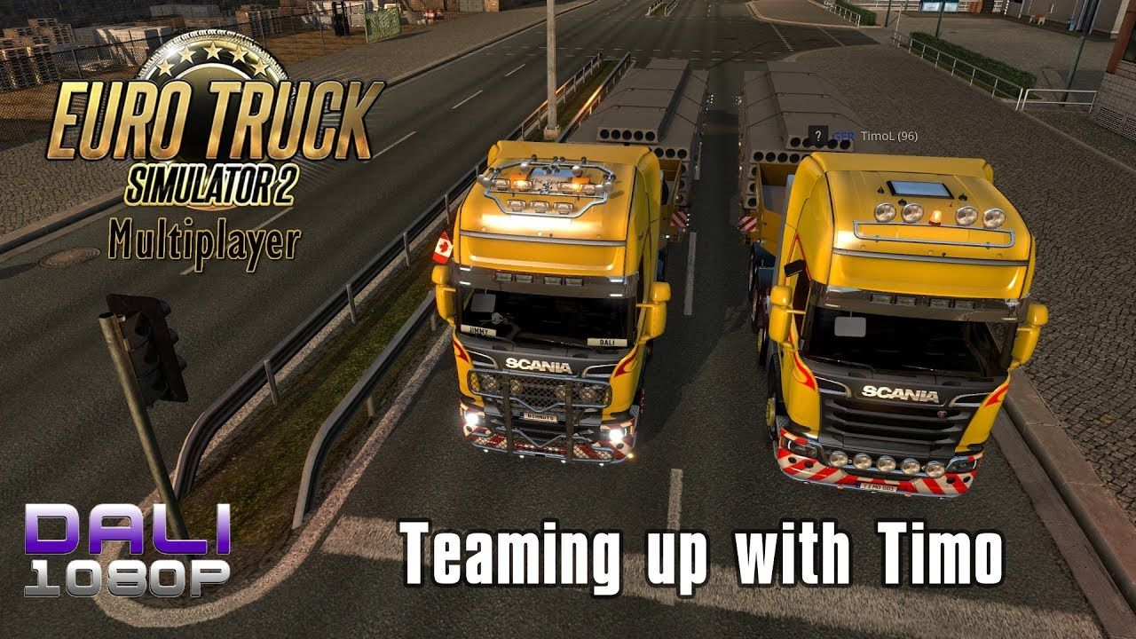 ETS 2 Multiplayer Teaming up with Timo (with commentary