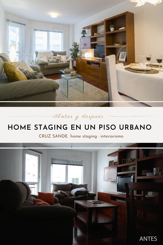 Antes y después de un salón en un proyecto de Home Staging para poner un piso en venta #decosaloncomedor  #salondecor #lowcostdeco #antesydespues #homestaging  #fotografiainmobiliaria #galicia
