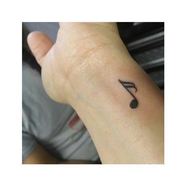 16th note, music note tattoo, small wrist tattoo, tiny ...