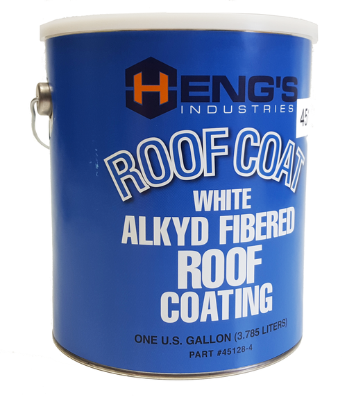 Heng S 45128 4 Rv White Alkyd Fibered Roof Coating One Gallon Roof Coating Metal Roof How To Apply