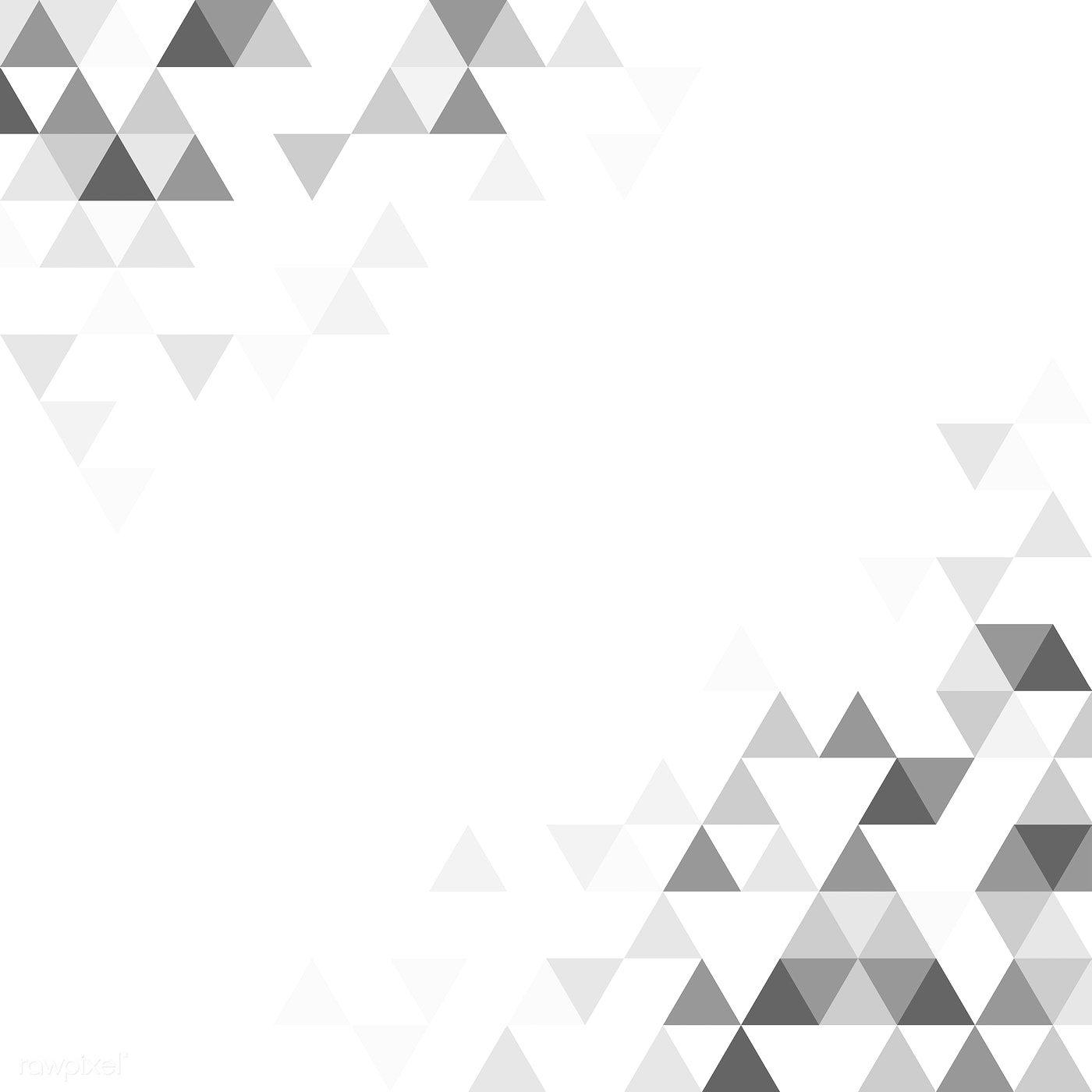 Gray Triangle Patterned On White Background Free Image By Rawpixel Com Triangle Pattern Pattern Illustration Geometric Background