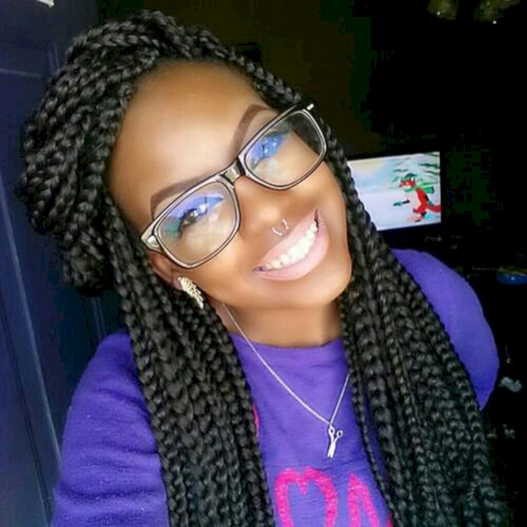 Easy box braids hairstyles for cute girls inspiration box