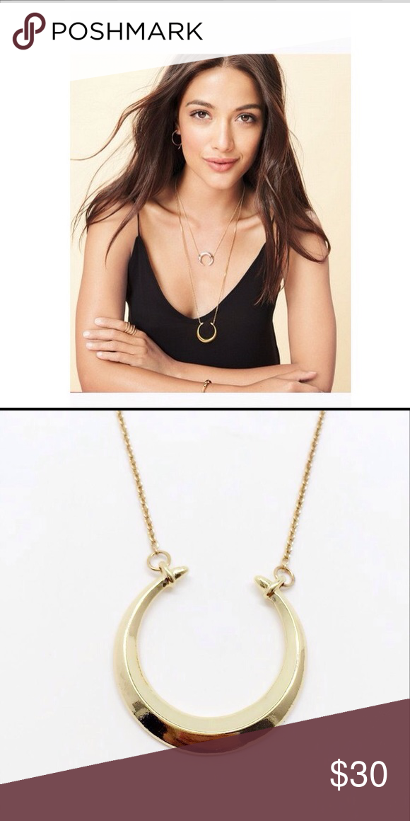 """GOLD❣FIRM$ Stella & Dot gold double horn necklace Stella and Dot Oxhorn necklace. Authentic price is firm original price is $59 my price is $30❣ Available in SILVER you'll never want to take this off this will be your new every day necklace! BNWOTA shiny gold double horn pendant suspends from a delicate gold chain. Wear alone as a long pendant necklace or layer with your favorite delicates.  Shiny Gold Plating 22"""" with 5"""" Extender Lobster Clasp Closure Jewelry Necklaces"""