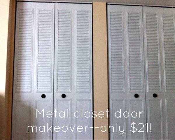 Spray Paint Closet Door Makeover For 21 Closet Doors