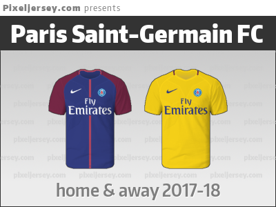 newest ab4e2 ceaa9 The jersey of Paris Saint-Germain (PSG) from season 2017-18 ...