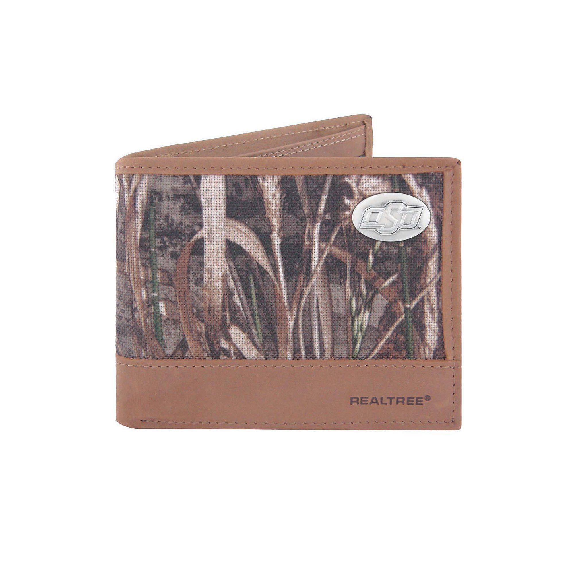 Realtree Oklahoma State Cowboys Pass Case Wallet, Men's, Green
