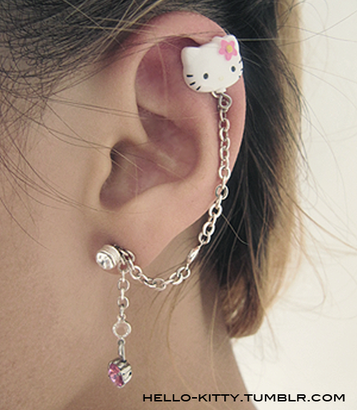 Hello Kitty! - Hello Kitty Cartilage Earring on We