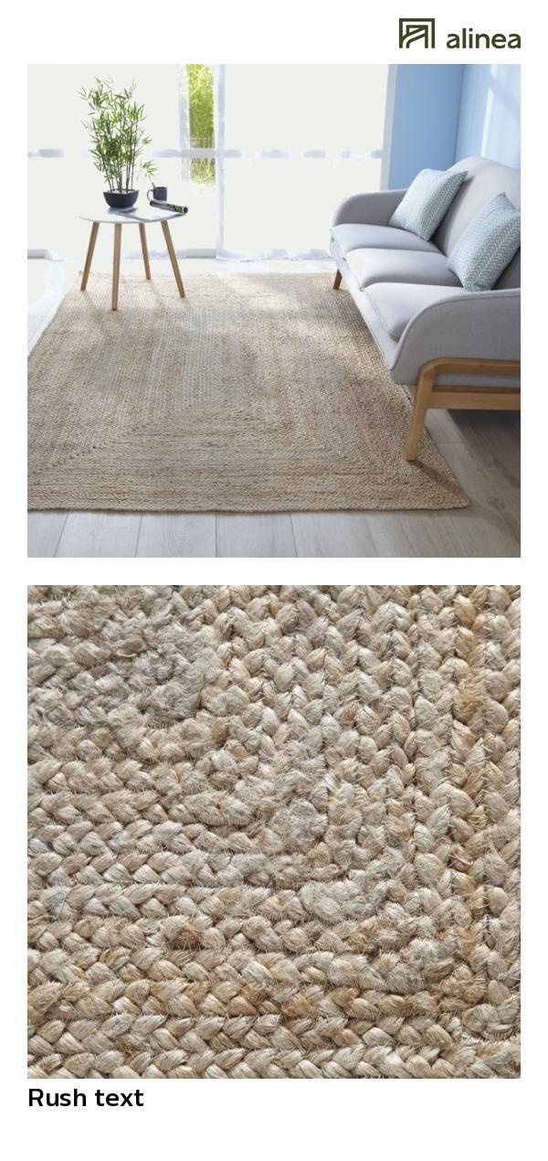 tapis tresse en jute naturel