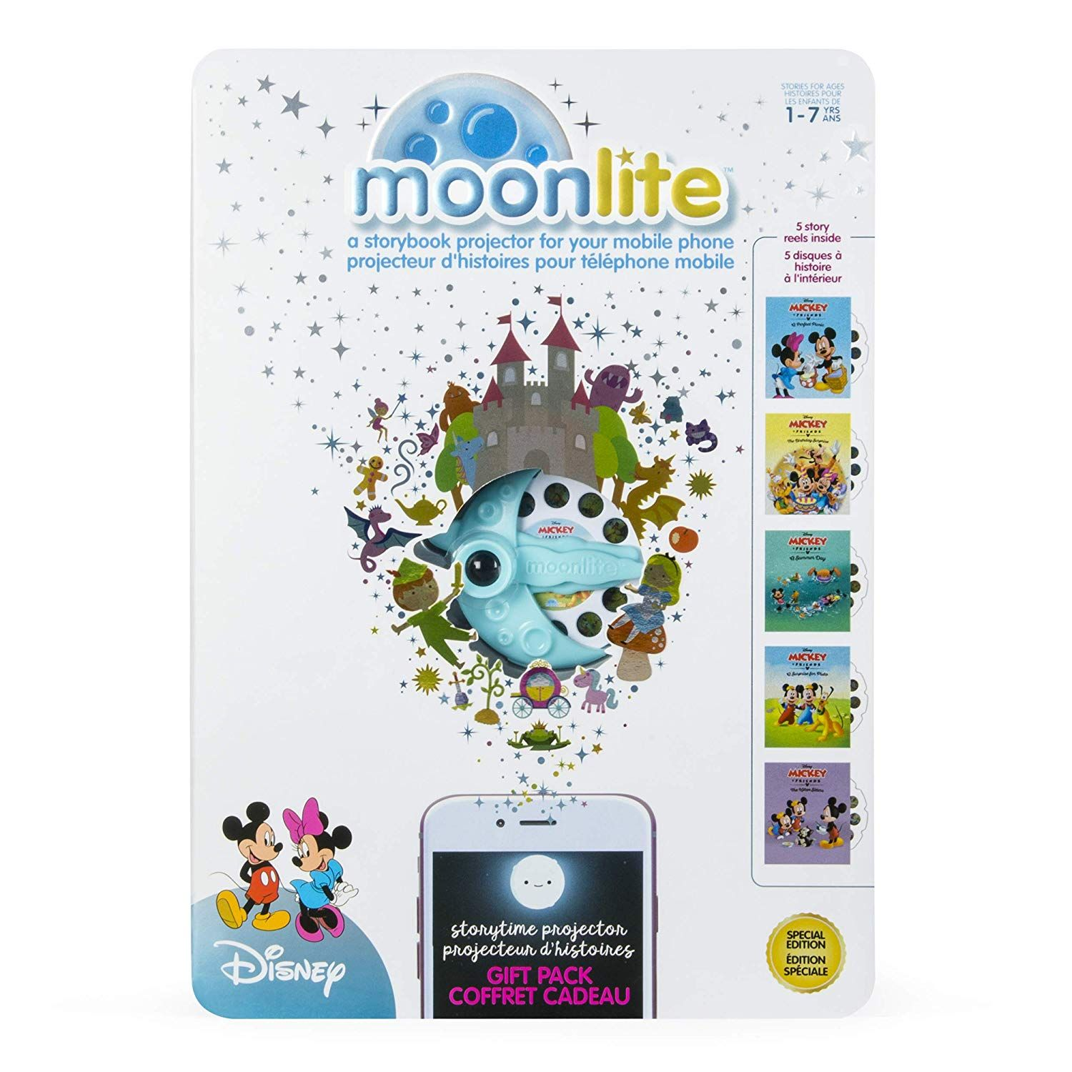 Storybook Projector for Smartphones with 5 Stories Moonlite Gift Pack