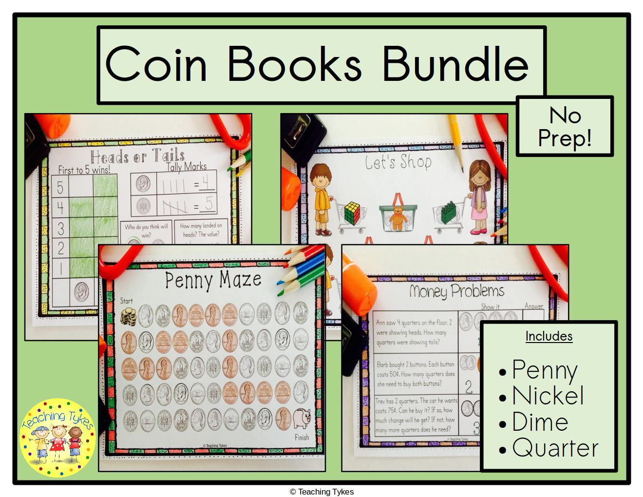 Money Coins Books From Teaching Tykes